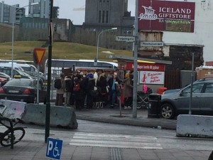 Iceland's Best Hot Dogs! Apparently worth the wait...