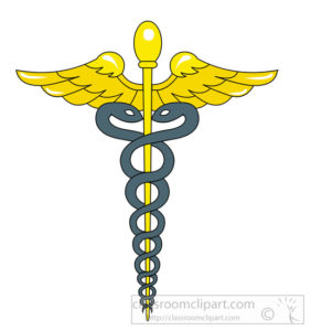 caduceus medical clipart